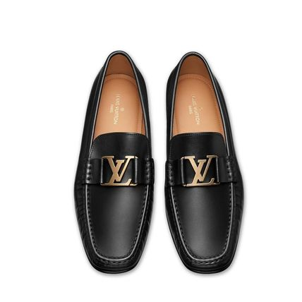 Louis Vuitton Loafers & Slip-ons Plain Toe Loafers Blended Fabrics Plain Leather 3