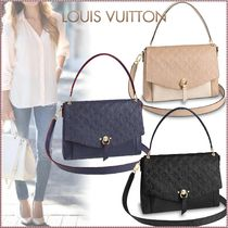 Louis Vuitton MONOGRAM EMPREINTE Monogram Blended Fabrics 3WAY Bi-color Leather Elegant Style