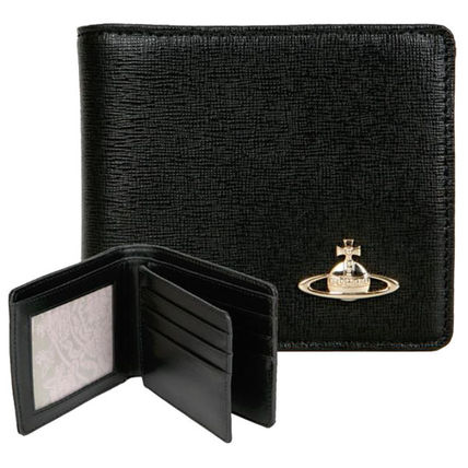 Vivienne Westwood Studded Leather Folding Wallet Wallets & Card Holders