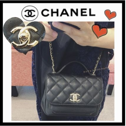 CHANEL MATELASSE Calfskin 2WAY Plain Elegant Style Crossbody Shoulder Bags