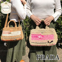 PRADA Crossbody Straw Bags