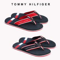 Tommy Hilfiger Unisex Street Style Bi-color Plain Shower Shoes