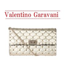 VALENTINO Lambskin 2WAY Party Style Shoulder Bags