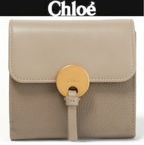 Chloe Tassel Plain Leather Folding Wallets