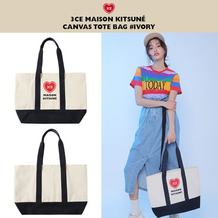 Heart Casual Style Canvas Street Style Collaboration A4