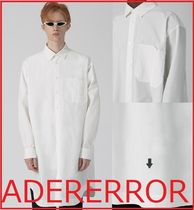 ADERERROR Casual Style Unisex Long Sleeves Plain Cotton Long Oversized