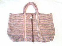 Ron Herman Stripes Casual Style Collaboration Handmade Totes