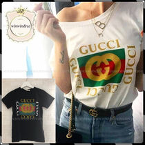 GUCCI Casual Style U-Neck Cotton Short Sleeves Polo Shirts