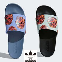 bb78e1d00534c0 adidas Flower Patterns Open Toe Casual Style Flip Flops