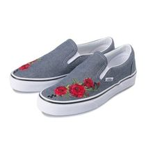 VANS SLIP ON Other Check Patterns Flower Patterns Casual Style