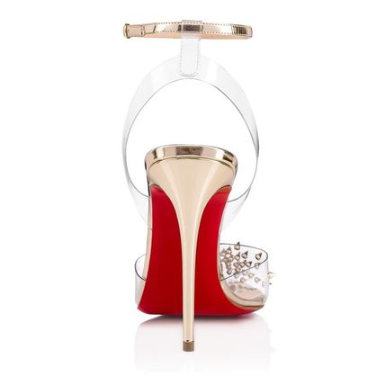 342e4cb2c11 ... Christian Louboutin Heeled Blended Fabrics Studded Bi-color Plain Pin  Heels 6 ...
