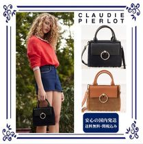 CLAUDIE PIERLOT Casual Style Street Style 2WAY Plain Leather Straw Bags e01b1ef4f810