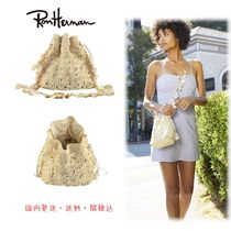 Ron Herman Casual Style Chain Plain Purses Straw Bags
