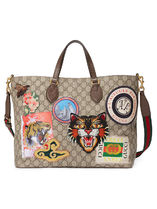 GUCCI Canvas 2WAY Other Animal Patterns Elegant Style Totes