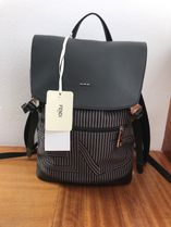 FENDI Stripes Unisex Canvas Backpacks