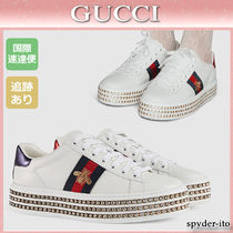 GUCCI Leather Low-Top Sneakers
