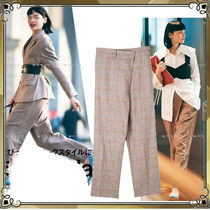 TOGA Linen Long Office Style Center Pressed Oversized Pants