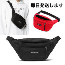 BALENCIAGA Nylon Street Style Plain Hip Packs