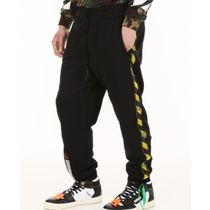 Off-White Plain Cotton Joggers & Sweatpants
