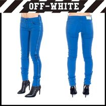 Off-White Casual Style Plain Cotton Skinny Jeans