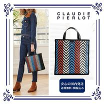 Casual Style Studded Street Style 2WAY Plain Leather.  617 USD. CLAUDIE  PIERLOT Stripes Casual Style Unisex PVC Clothing Straw Bags a4143491bdda