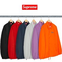 Supreme Unisex Street Style Collaboration Plain Coach Jackets