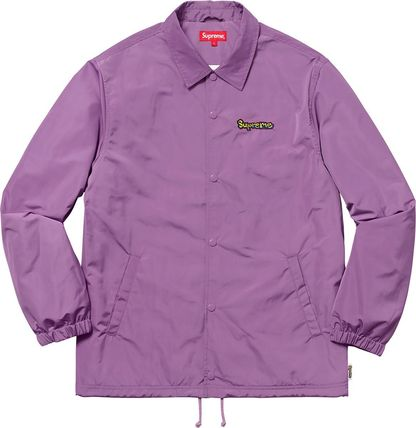 Supreme Unisex Collaboration Plain Street Style Coach Jackets