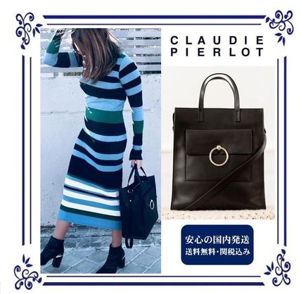 Casual Style Street Style Plain Leather Shoulder Bags