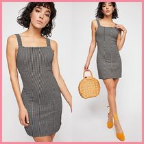 Free People Short Casual Style Tight Sleeveless Dresses