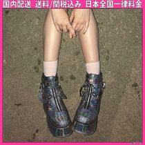 DOLLS KILL Platform Round Toe Casual Style Python Ankle & Booties Boots