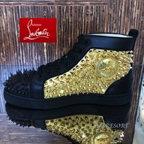 Christian Louboutin Studded Leather Sneakers