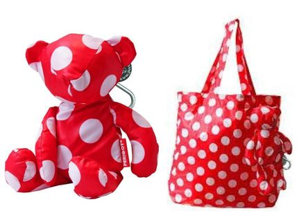 Dots Nylon 2WAY Shoppers