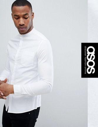 ASOS Shirts Long Sleeves Band-collar Shirts Shirts