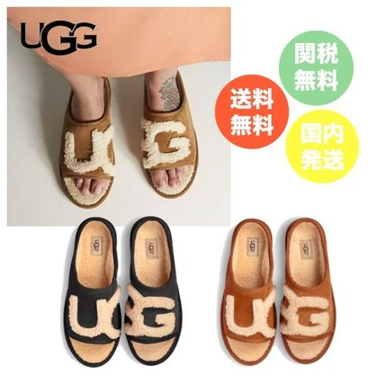 Casual Style Sheepskin Sandals