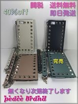 VALENTINO Studded Street Style Chain Leather Smart Phone Cases