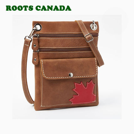 Casual Style Unisex Leather Shoulder Bags
