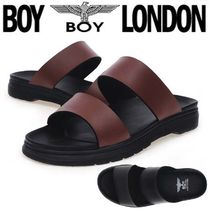 BOY LONDON Faux Fur Street Style Other Animal Patterns Sandals