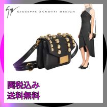GIUSEPPE ZANOTTI Plain Party Style With Jewels Shoulder Bags