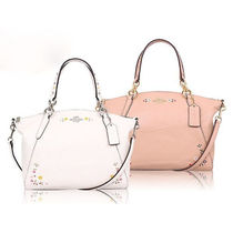Coach Flower Patterns 2WAY Leather Handbags