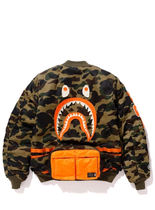 A BATHING APE Camouflage Street Style Collaboration MA-1 Jackets