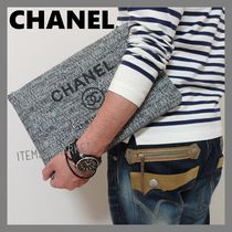 CHANEL DEAUVILLE Unisex Street Style Clutches