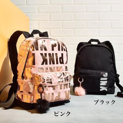 Victoria s secret PINK 2018 SS Casual Style Nylon Backpacks by ... cc7f7a4dcbb0f