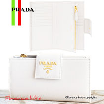 PRADA SAFFIANO LUX Saffiano Plain Folding Wallets