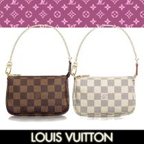 Louis Vuitton DAMIER Other Check Patterns 2WAY Leather Elegant Style