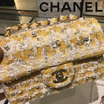 CHANEL Blended Fabrics 2WAY Chain Party Style Shoulder Bags