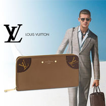 Louis Vuitton Monoglam Plain Leather Long Wallets