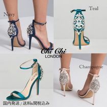 Chi Chi London Pin Heels Party Style With Jewels Shoes