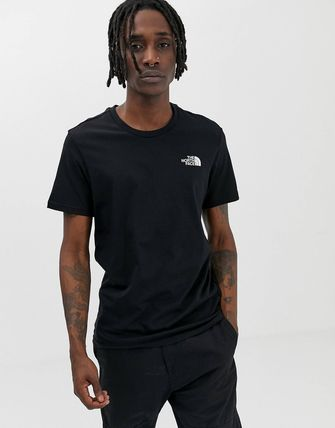 THE NORTH FACE Crew Neck Crew Neck Street Style Cotton Short Sleeves 2