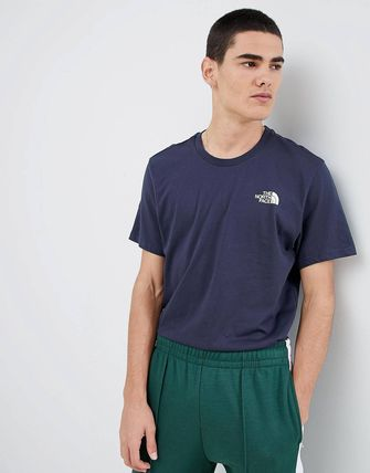 THE NORTH FACE Crew Neck Crew Neck Street Style Cotton Short Sleeves 6
