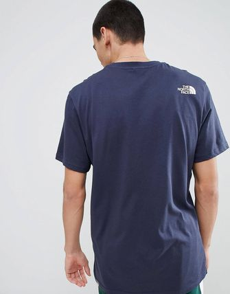 THE NORTH FACE Crew Neck Crew Neck Street Style Cotton Short Sleeves 7
